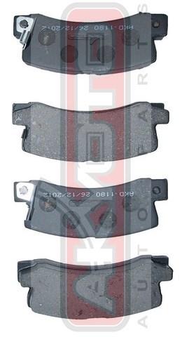 Колодки тормозные дисковые задние. AKYOTO (AKD1180)