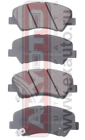 Колодки тормозные дисковые передние. AKYOTO (AKD12101)