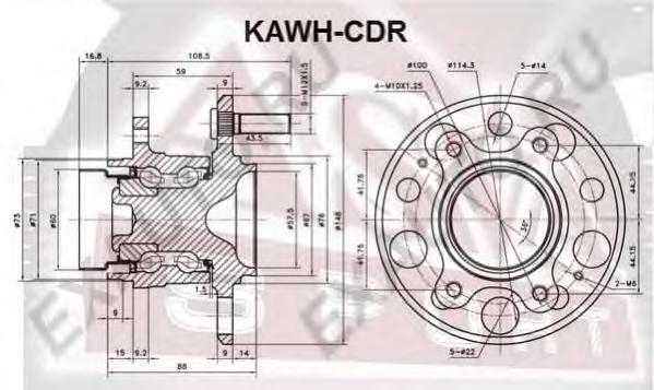 Ступица задняя. ASVA (KAWHCDR)