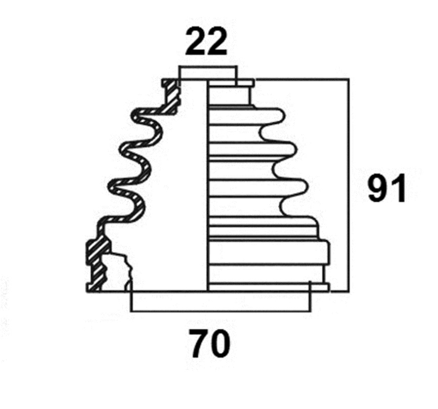 Пыльник привода. AVANTECH (BD0113)