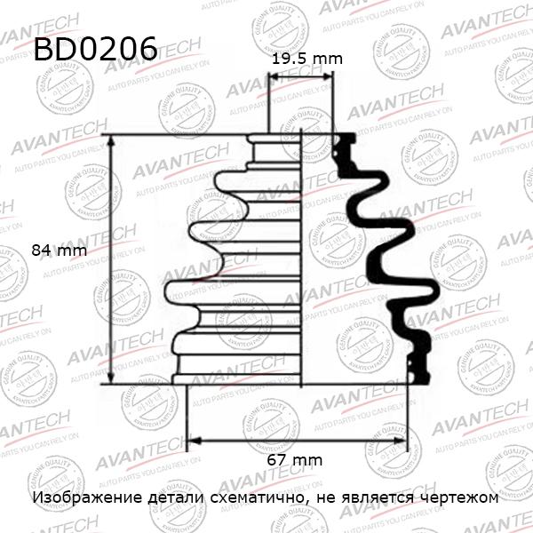Пыльник привода. AVANTECH (BD0206)
