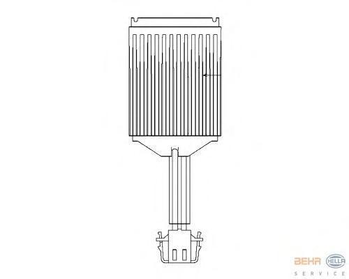 Блок управления, отопление / вентиляция. Behr-hella (5HL351321-281)