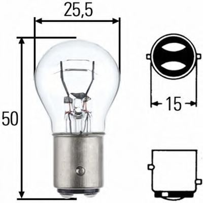 Лампа накаливания P21/5W 12V-21/5W (BAY15d). Behr-hella (8GD002078-121)