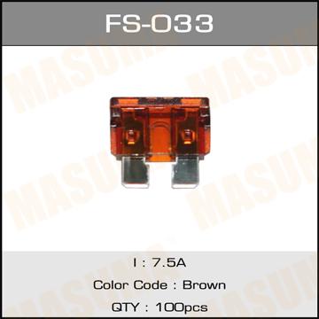 Предохр. MASUMA Флажковые Стандарт 7.5А (уп.100шт). (FS-033)