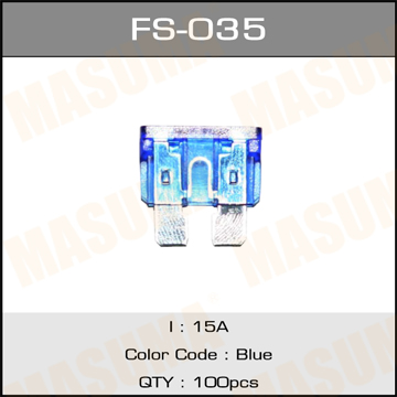 Предохр. MASUMA Флажковые Стандарт 15А (уп.100шт). (FS-035)