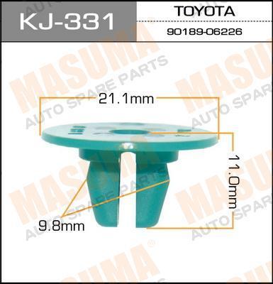 Покер пластм.крепежный  Masuma  331-KJ (уп.50шт). (KJ-331)