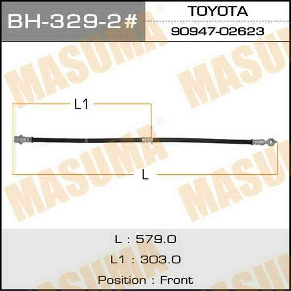 ВH329-2 /front/ Camry, Vista/sv30. Masuma (BH-329-2)