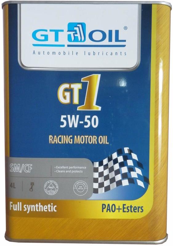 GT1 Synthetic 5W50 SM/CF 4л. GT OIL (8809059407196)