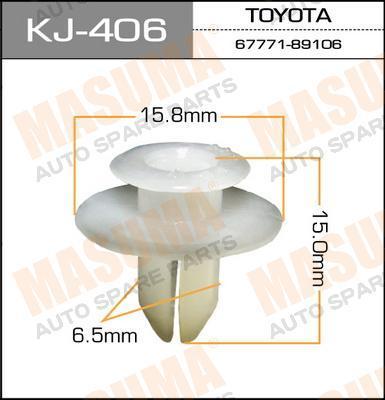Покер пластм.крепежный  Masuma  406-KJ (уп.50шт). (KJ-406)