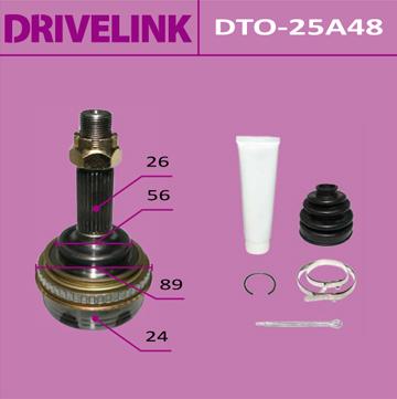 ШРУС DRIVELINK 24x56x26x48 (1/10). (DTO-25A48)
