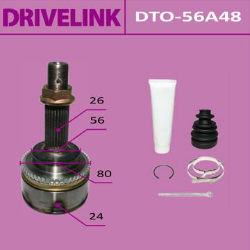 ШРУС DRIVELINK 24x56x26x48 (1/10). (DTO-56A48)