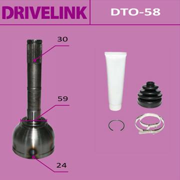 ШРУС DRIVELINK 24x59x30 (1/10) пыльник не требуется. (DTO-58)