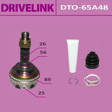 ШРУС DRIVELINK 25x56x26x48 (1/10). (DTO-65A48)