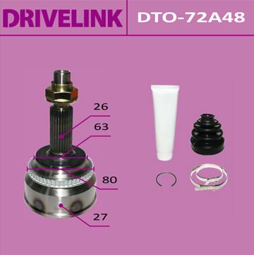 ШРУС DRIVELINK 27x63,3x26x48 (1/10). (DTO-72A48)