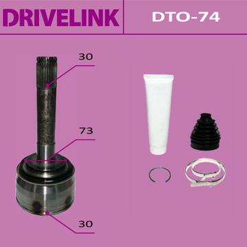 ШРУС DRIVELINK 30x73x30 (1/10). (DTO-74)