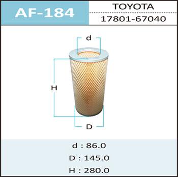 Воздушный фильтр A-184 HEPAFIX (1/24). (AF-184)