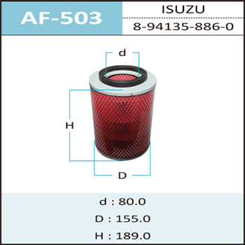 Воздушный фильтр A-503 HEPAFIX (1/18). (AF-503)
