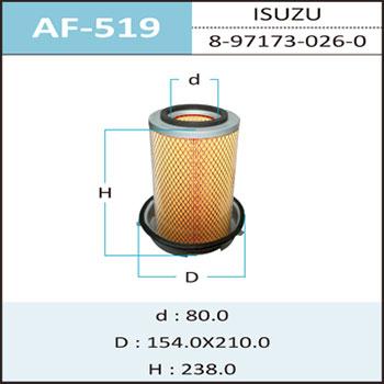 Воздушный фильтр A-519 HEPAFIX (1/12). (AF-519)