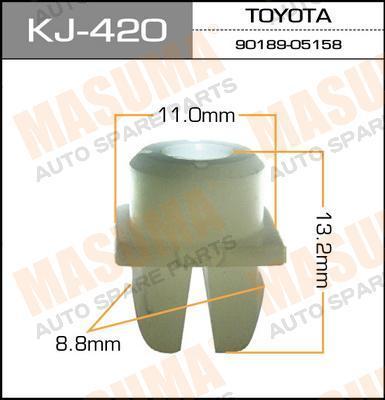Покер пластм.крепежный  Masuma  420-KJ (уп.50шт). (KJ-420)