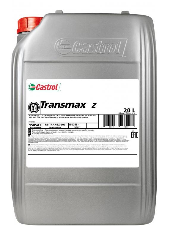 Castrol Transmax Z, 20L (трансмиссионное масло). Castrol (1585A3)