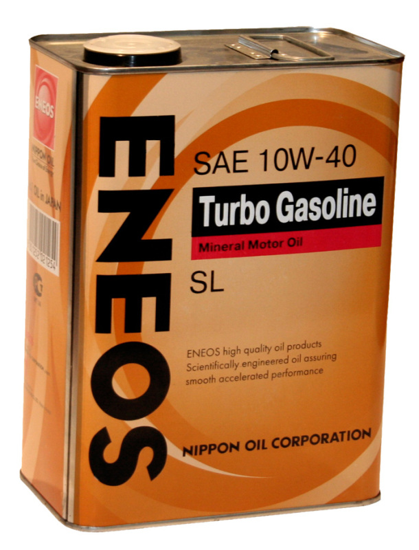 Eneos Turbo Gasoline SL 10W-40, 0.946л. ENEOS (OIL1440)