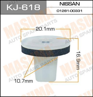 Покер пластм.крепежный  Masuma  618-KJ (уп.50шт). (KJ-618)