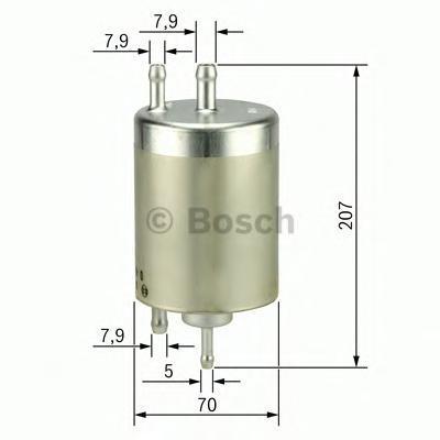 ТОПЛИВНЫЙ ФИЛЬТР (Mann WK 513/3). Bosch (F026403000)