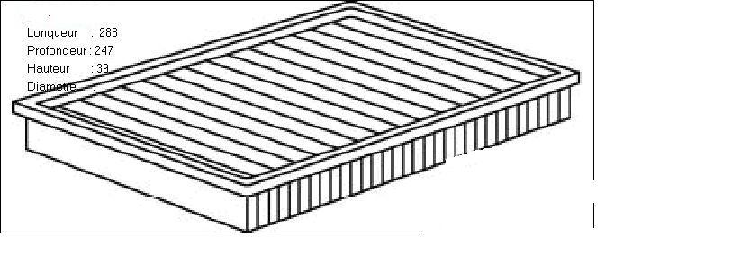 ВСТАВКА ВОЗД. ФИЛЬТРА (Mann C 28 150). Bosch (F026400004)
