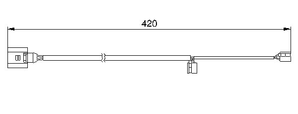 ДАТЧИК ИЗНОСА ТОРМ.КОЛОДОК Cayenne Touareg Q7. Bosch (1987473012)