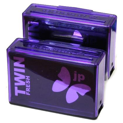 TWNS-128(30) Ароматизатор воздуха в  карманы  дверей  TWIN FRESH  Ночная прохлада (100гр х2) (шт.). FKVJP (TWNS-128)