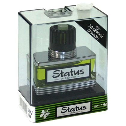 STV-60(10/50) Ароматизатор на дефлектор  STATUS  зеленый лимон (15 мл) (шт.). FKVJP (STV-60)