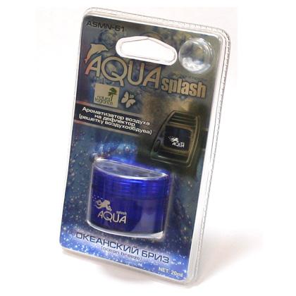 ASMN-61(10/40) Ароматизатор воздуха на дефлектор  AQUA SPLASH  океанский бриз (20мл) (шт.). FKVJP (ASMN-61)