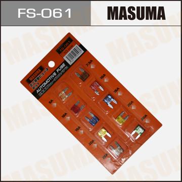 Предохранители имп. Мини MASUMA Набор 10 шт (7.5 - 30А). (FS-061)