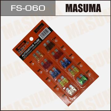 Предохранители имп. Стандарт MASUMA Набор 10 шт (7.5 - 30А). (FS-060)