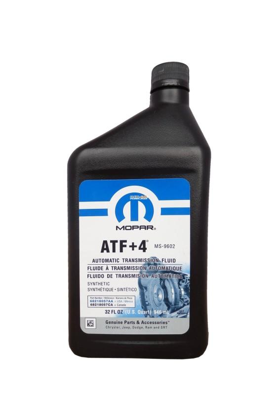 Масло для АКПП ATF+4 0.946ml. CHRYSLER (68218057AA)