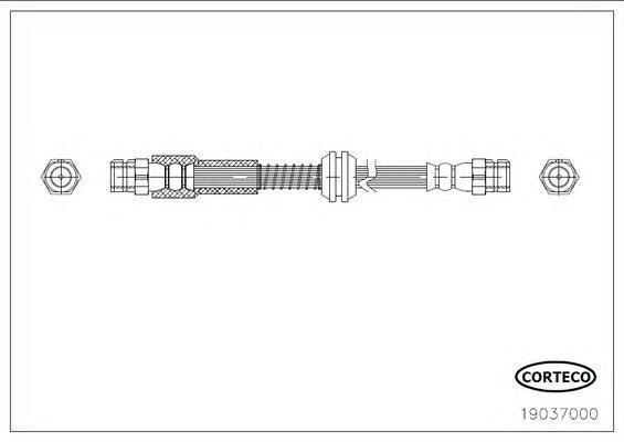 Шланг тормозной. Corteco (19037000)