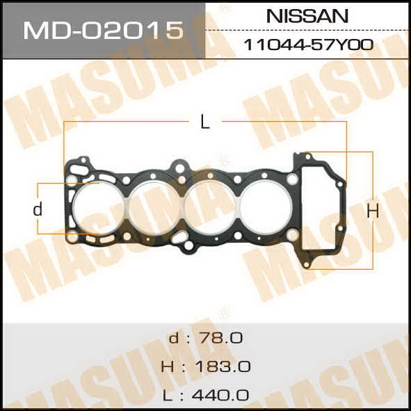 Прокладка Голов.блока  Masuma  GA16DS (1/10). (MD-02015)