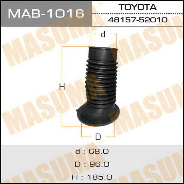 Пыльник стоек  Masuma  68*190*98 TOY bB, Funcargo, Ist, Platz, Porte, Probox, Raum, Sienta. (MAB-1016)