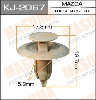 Клипса крепежная  Masuma  2067-KJ (уп.50шт). (KJ-2067)