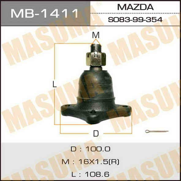 Шаровая опора  Masuma  front up BONGO/SS28M, SSE88R, SS88M. (MB-1411)