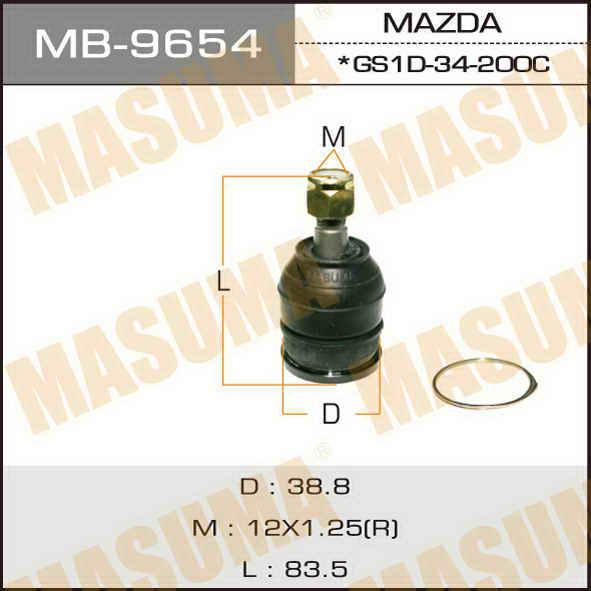 Шаровая опора  Masuma  front up MAZDA6. (MB-9654)