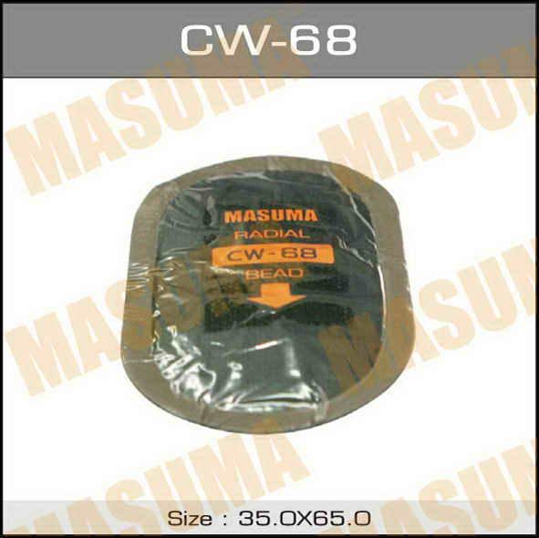 Заплатки  Masuma  кордовые, 65х35mm к-т 5 шт.. (CW-68)