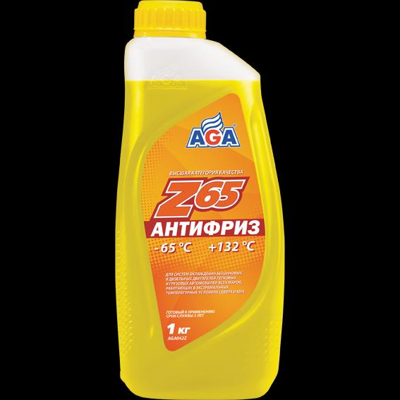 Антифриз, готовый к применению, желтый, -65С 946мл ANTIFREEZE AGA-Z65, PREMIX 946 мл.. (AGA042Z)