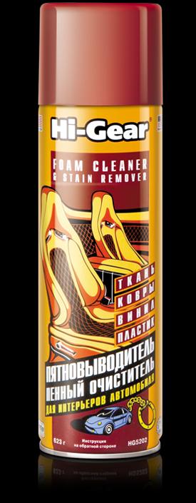 Пенный очиститель и пятновыводитель (аэрозоль) Hi-Gear SUPER STUFF FOAM CLEANER STAIN REMOVER 623 м. (HG5202)