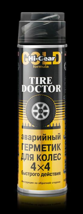 Аварийный герметик для ремонта проколотых шин (с шлангом, аэрозоль) Hi-Gear TIRE DOCTOR 453 мл. (HG5339)