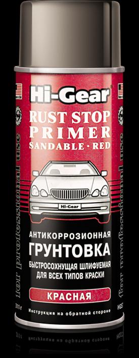 Антикоррозионная грунтовка автомобильная быстросохнущая, шлифуемая для всех типов краски красная Hi-. Hi-Gear (HG5722)