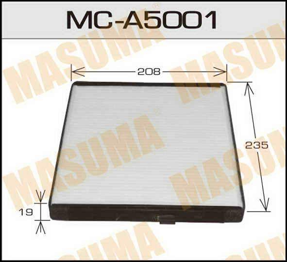 Воздушный фильтр Салонный АС-  Masuma  (1/40). (MC-A5001)