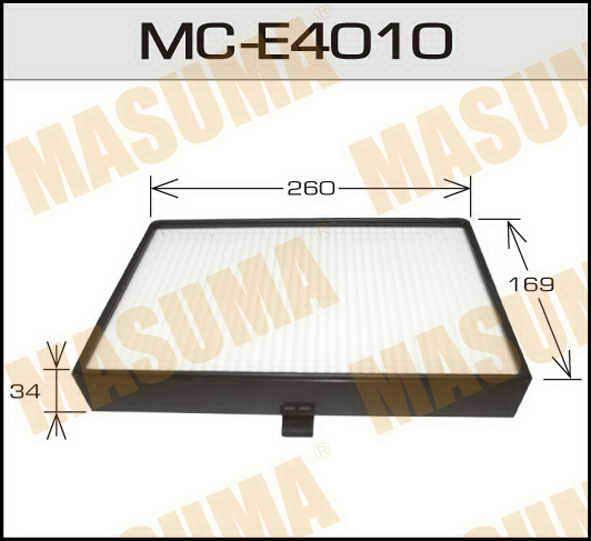 Воздушный фильтр Салонный АС-  Masuma  (1/40). (MC-E4010)