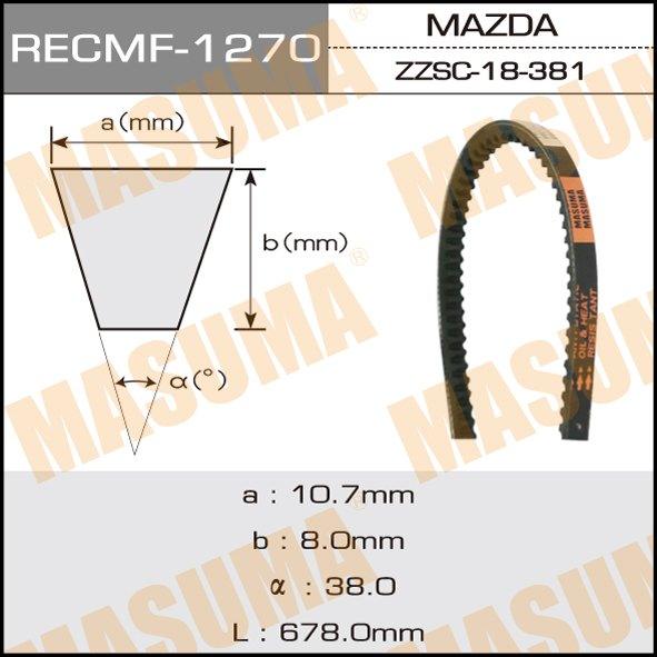 Ремень клиновидный  Masuma  рк.1270 (10x686)