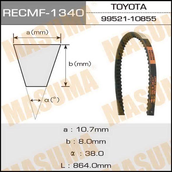 Ремень клиновидный  Masuma  рк.1340 (10x864)
